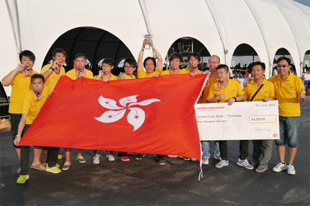 Victory on Formula One tracksThe first Hong Kong team winning in the Shell Eco Marathon