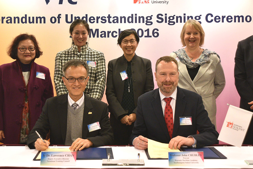 MOU signing ceremony between MSTI and Warsash Maritime Academy (WMA) of Southampton Solent University (SSU) United Kingdom
