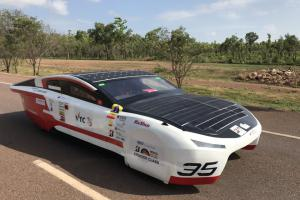 Solar-powered car SOPHIE VI developed by IVE emerges with flying colours in World Solar Challenge 2017 in Australia