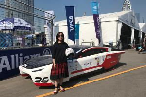 SOPHIE racing at Formula E Racetrack