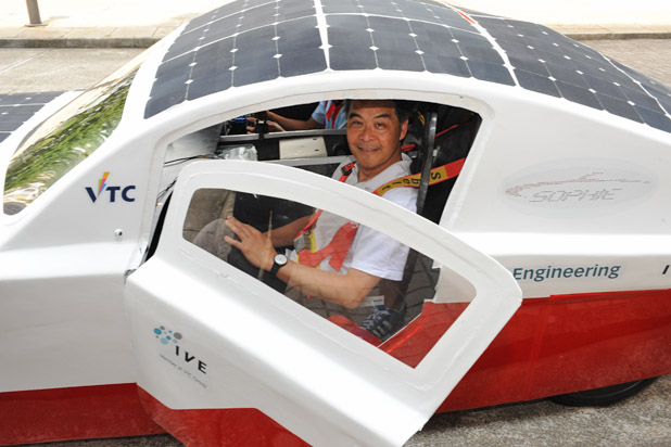 Study Fun Success of SOPHIE solar-powered vehicles proves Hong Kong's research and development potentials  (Jun 2015)