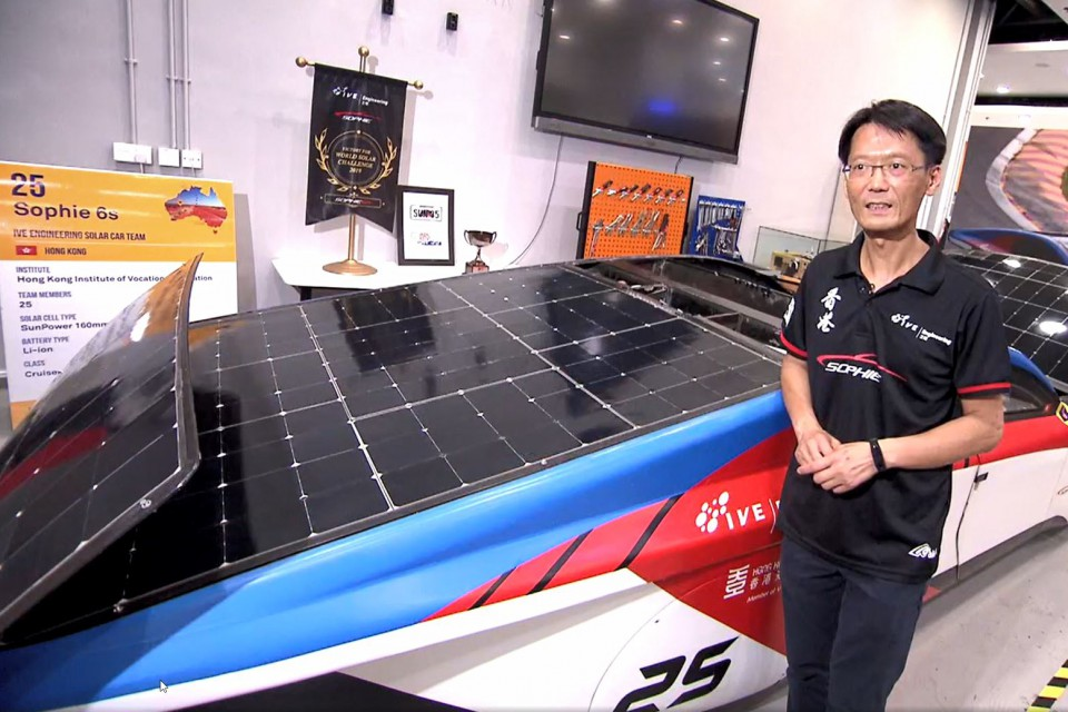 Student Achievement IVE Engineering Solar Car Team Rocks in TVB Programme— 'Innovation GPS(創科導航)' (Jul 2020)