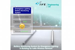 Battery Monitoring System for Emergency Lighting in Buildings using a LoRa Wireless Network